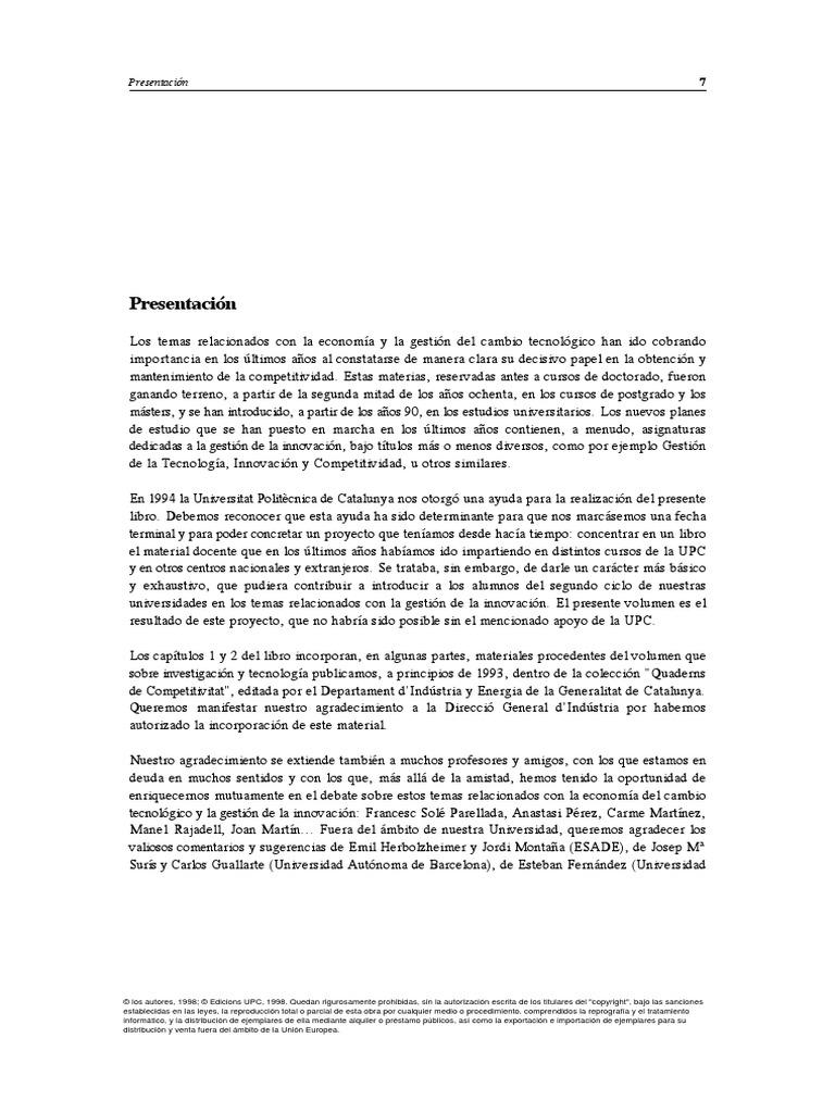 Tecnologia e Innovacion en La Empreza-Direccion y Gestion