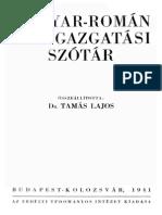 Magyar-Roman Kozigazgatasi Szotar