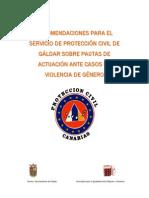Actuaciones Proteccion Civil - Violencia de Genero