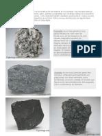 Rocas Igneas-metamorficas y Sedimentarias