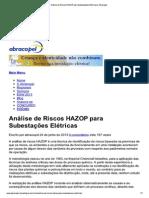 Análise de Riscos HAZOP ...s Elétricas _ Abracopel