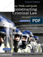 Reconstructing Criminal Law - Text and Materials 4th Ed. - C. Wells, O. Quick (Cambridge, 2010) BBS