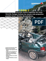 Geobrugg AG TXI 010 Barrera Impactos de Rocas Es
