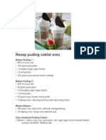 Resep Puding Coklat Oreo