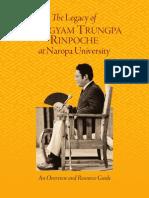 Legacy of Chogyan Trungpa Rinpoche at Naropa University