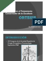 Escoliosis, Evidencias en Tratamiento Conservador, Ortesis