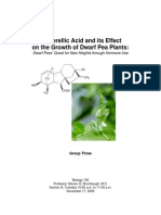 The Effects of Gibberellic Acid on the Growth of Dwarf Pea Plants