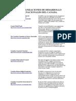 Organizaciones Internacionales de Desarrollo Del Canada