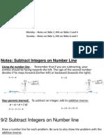 9-2 thru 9-5 subtract integers