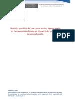 Marco Normativo Vigente en El Marco Proceso de Descentralizacion