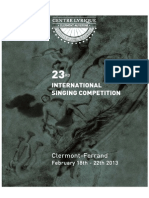 23rd Competition Clermont-Ferrand 2013