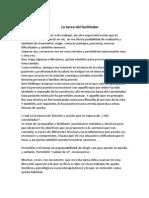 La Tarea Del Facilitador Por Dr Miguel Schiavo