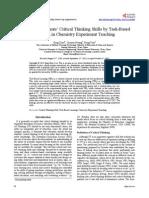 Critical Thinking 2010-2015