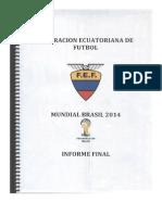Informe Final Mundial Brasil 2014