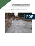 Comenzamos Citando El Caso de Los Sistemas de Drenaje de Aguas Pluviales