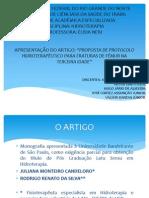 APRESENTAÇÃO DO ARTIGO - PROPOSTA DE PROTOCOLO HIDROTERAPÊUTICO PARA FRATURAS DE FÊMUR NA TERCEIRA IDADE.pptx
