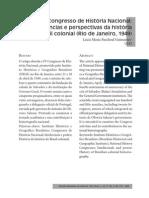 IV Congresso de História Nacional_tendências e Perspectivas Da História Do Brasil Colonial