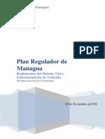 Plan Regulador de Managua- Reglamentos Del Sistema Vial y Estacionamiento de Vehiculos