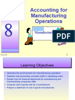 Topic 8 - Accounting for Manufacturing Operations