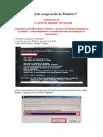 Manual de Recuperación de Windows 7
