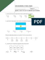 Evaluacion Matematica 4º Agosto