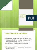 Crear Bases de Datos SQL