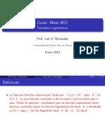 Funciones Logaritmícas Beamer