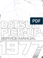 Service Manual Datsun Pick-Up 1977