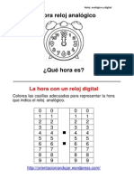 Las Horas Analogico Digital Orientacion Andujar Horas en Punto