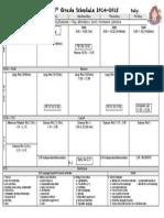 Schedule Planner 2014