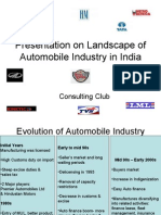 Presentation on Landscape of Automobile Industry in India
