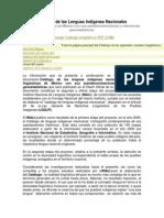 Catálogo de Las Lenguas Indígenas Nacionales
