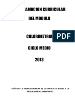 Colorimetria Ciclo Medio 2013