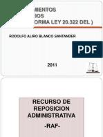 Procedimientos Reclamaciones Tributarias Ley 20.322.Ppt Udla 2011 (1)