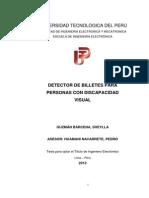 Detector de Billetes Para Personas Con Discapacidad Visual