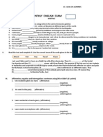 Examen de Inglés de I.E. 5126 Los Jazmines