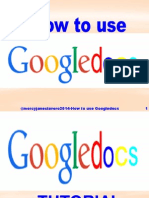 How to Use Googledocs