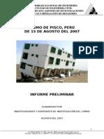 Informe Sismo de Pisco
