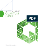 Ayers Alliance Quantum Fund Offering Memorandum