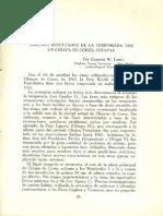 Algunos Resultados de La Temporada 1961 en Chiapa de Corzo