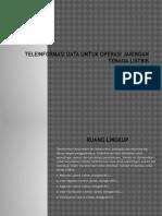 Teleinformasi Data Untuk Operasi Jaringan Tenaga Listrik