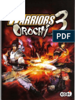 Warriors Orochi 3 (PS3) Instructions Manual