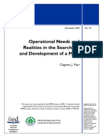 Operational Needs and Realities in the Search for and Development of a Mine