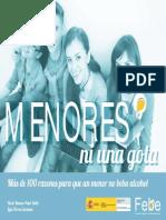 MENORES, NI UNA GOTA. Más de 100 Razones Para Que Un Menor No Beba Alcohol - Rocío Ramos-Paul Salto y Luis Torres Cardona