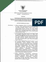 Keputusan Menteri Pekerjaan Umum Nomor 264/KPTS/M/2014 tentang Pelimpahan Kewenangan Pemberian Persetujuan Substansi Rancangan Peraturan Daerah tentang Rencana Rinci Tata Ruang Kabupaten/Kota Kepada Gubernur Sulawesi Tengah