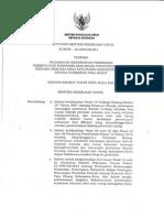 Keputusan Menteri Pekerjaan Umum Nomor 233/KPTS/M/2013 tentang Pelimpahan Kewenangan Pemberian Persetujuan Substansi Rancangan Peraturan Daerah tentang Rencana Rinci Tata Ruang Kabupaten/Kota Kepada Gubernur Jawa Barat