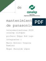 Plan de Mantenimiento de Panasonic