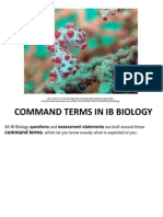 Command Terms for Biology