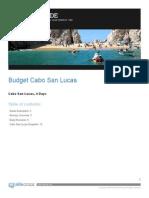 Budget Cabo San Lucas