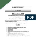 year 12 as ethics homework 2014
